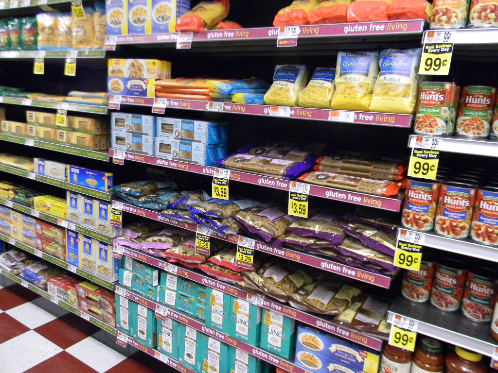 Gluten Free products in every isle at Jimmys.